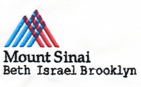 Mt Sinai Best Isreal embroidery logo