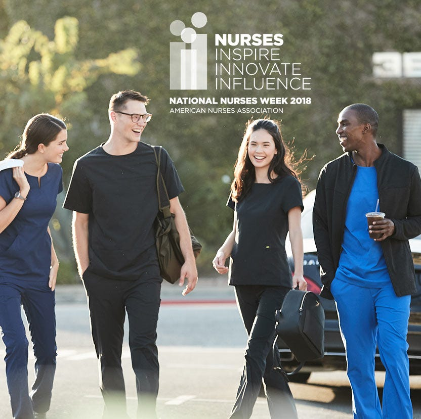 nurses wearing scrubs