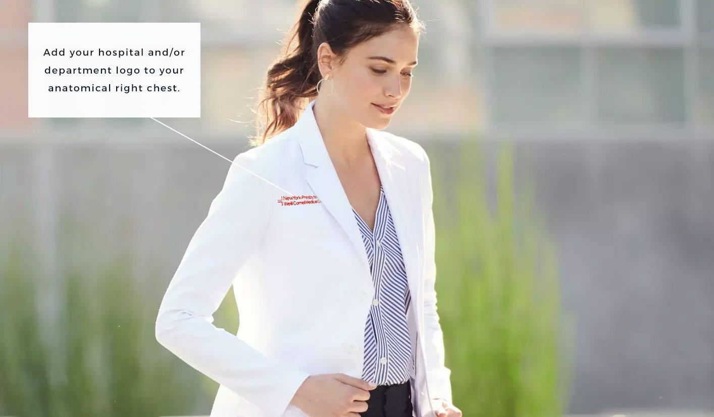 lab coat with NewYork-Presbyterian hospital logo