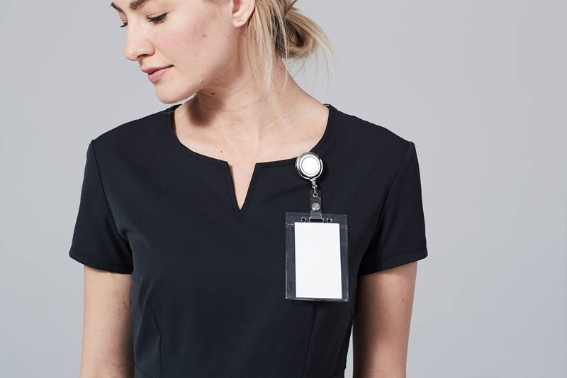 Scrub Top with badge holder