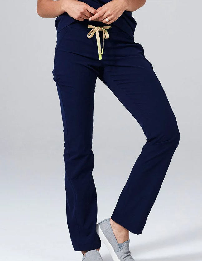 Navy Blue Scrub Pants for Women