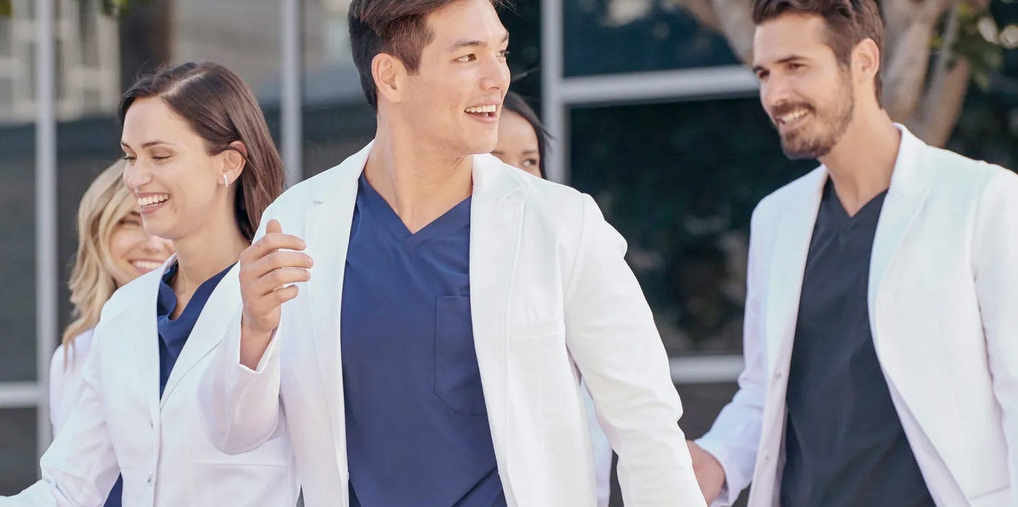 group medical uniforms