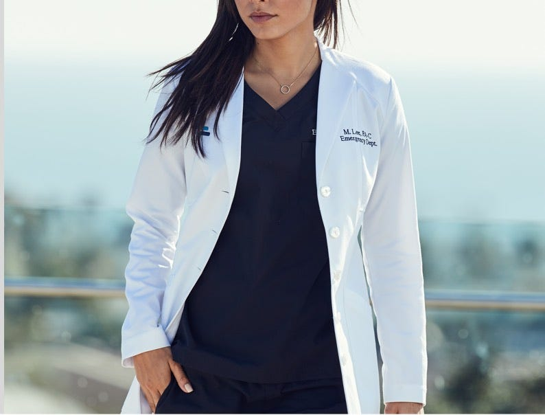 shop women's lab coats
