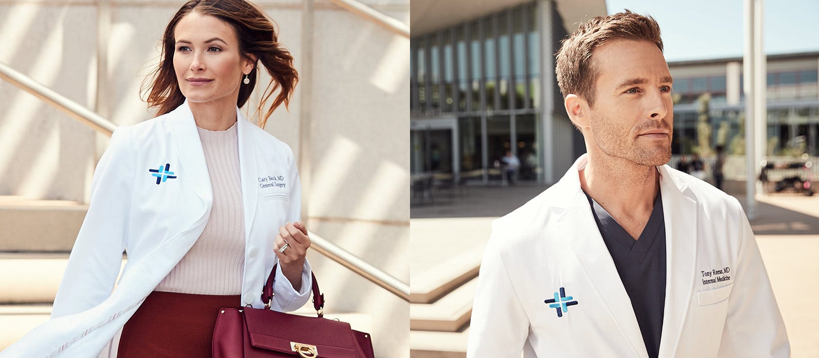 scrubs and lab coats by Medelita