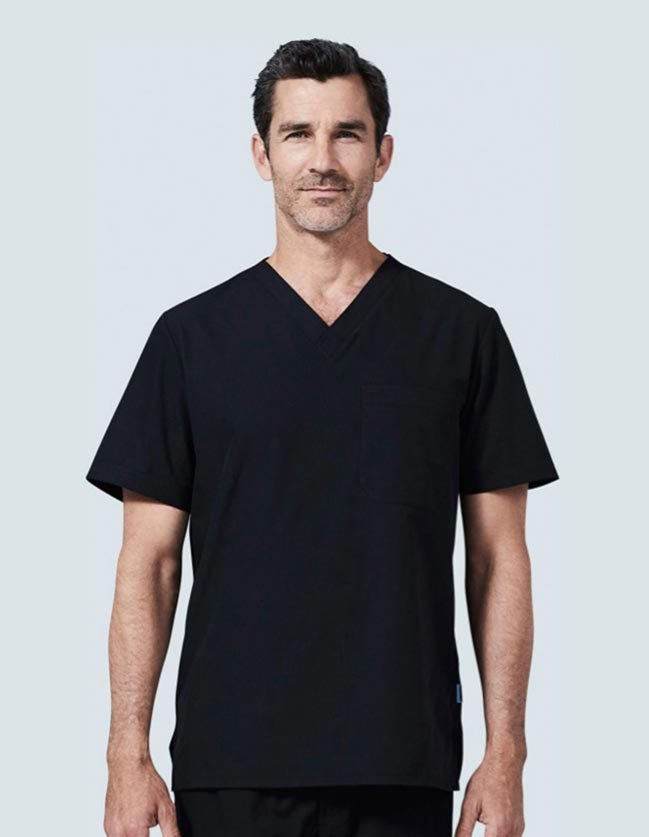 scrub top for men
