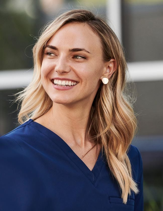scrub top for women