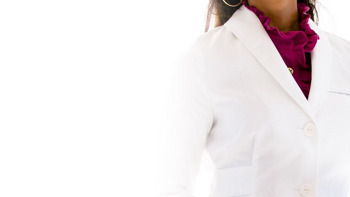 callia lab coat