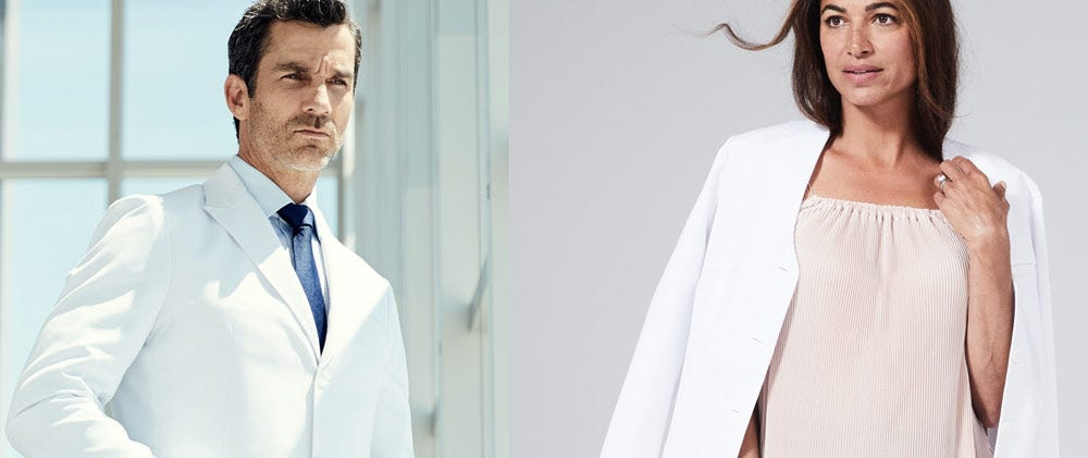 a top quality white lab coat will help your physician instantly take their professional style to the next level you can make this gift even more personal