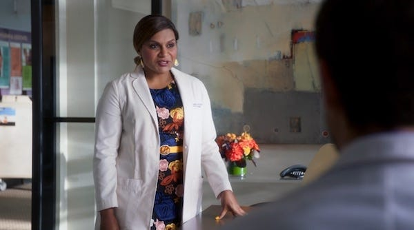 The Mindy Project wearing a Medelita Lab Coat
