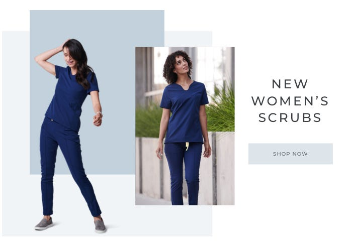 New Medelita Women's scrubs, Shop Sola Stretch Scrub Top and Pixel Stretch Scrub Pant