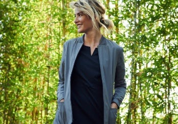 women's scrub jacket