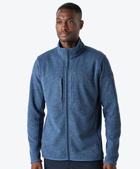 men's strata fleece in slate blue